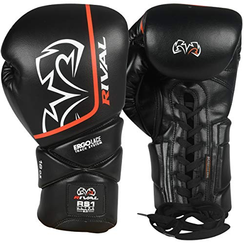 RIVAL Boxing RS1 2.0 Ultra Pro Lace-Up Sparring Gloves - 18 oz. - Black