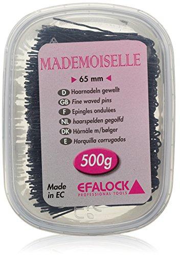 Efalock Professional Mademoiselle Haarnadel, 65 mm, schwarz, 1er Pack, (1x 0,5 kg)