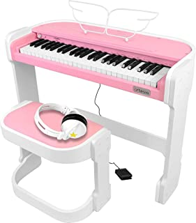 Artesia 電子ピアノ オールインワンキッズピアノセット 49鍵 AC-49/PK ピンク (サスティンペダル/専用スタンド/椅子/ヘッドフォン付属)
