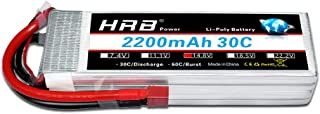 HRB 2200mAh 14.8V 4S 30C RC LiPo Battery Pack with Deans T Plug for RC Airplane Helicopter Quadcopter Vehicle Boat