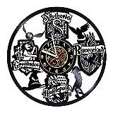 AIYOUBU Merchandise - Schallplatten-Wanduhr - Hogwarts-Poster - Hauswanddekoration - Geschenk Kreative Jungen und Mädchen Teenager Freunde - Einzigartiges Kunstdesign - Poster - Partyzubehör