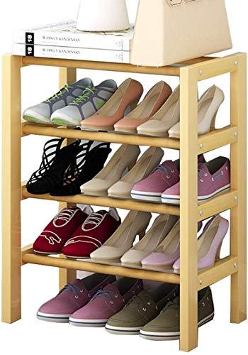 LHYLHY Estante de Almacenamiento de Zapatos Organizador Estante de Zapatos Estantes de Madera para el hogar Armario Organizador de Almacenamiento de Zapatos de Color de Madera Original apilable