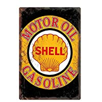 オリジナルのレトロなデザインの錫の金属看板の壁アート| モーターオイルガソリン| 厚いブリキ印刷ポスター壁の装飾