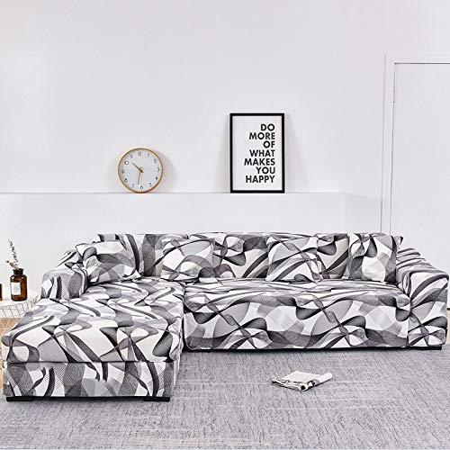 WXQY Funda de sofá Floral para Sala de Estar, Funda de sofá reclinable elástica, Funda de sofá elástica, Funda de sofá en Forma de L, Toalla de sofá A19, 2 plazas