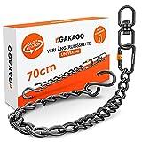 Gakago Extensión de cadena como hamaca colgante, soporte para saco de boxeo. Cadena de acero extra fuerte con ganchos en S, eslabón giratorio y mosquetón. Suspensión flexible también para exteriores.