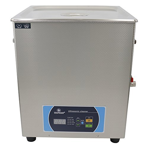 TDRFORCE Professional Ultrasonic Cleaner with Time/Temp/Power/Freq adjustable LED Display, Super Large 16Liter Capacity, Best for Carburetor Parts, Machine Nozzles, Engine Parts,Electronics Components
