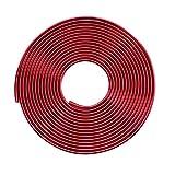 Tuokay 10M Tira de Protección Galvanizada para Coche Tira de Protección de Borde de Goma PVC Moldura de Borde de Puerta Brillante