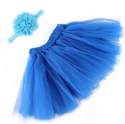 CAOLATOR Jupe de Puff et Pince à Cheveux Pinces à Cheveux pour Filles Barrettes Fille Petit Pinces à Cheveux Ensemble de Photographie pour Bleu foncé
