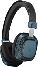 Promate Wireless Headphones, Bluetooth Wireless Wired Headset Over-Ear Stereo Headphone with Mic, Music Playback Control, Noise Cancellation and LED Light for Smartphones, Tablets,Mp3, Melody-BT Blue