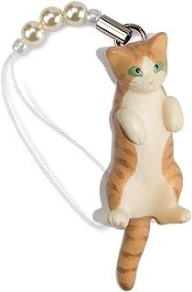 ペットラバーズ 猫どん LadyCat vol.7 茶トラ白 ビーズ ストラップ N-2702