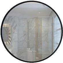 MU Lustro ścienne okrągłe lustro ścienne czarna metalowa rama lustro nordyckie przeciwwybuchowe bezpieczne lusterko toalet...