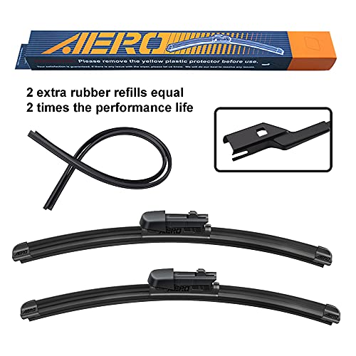 AERO Avenger 26'+17' Premium All-Season Windshield Wiper Blades with Extra Refills OEM Replacement for Subaru Forester 2021-2019 (Set of 2)