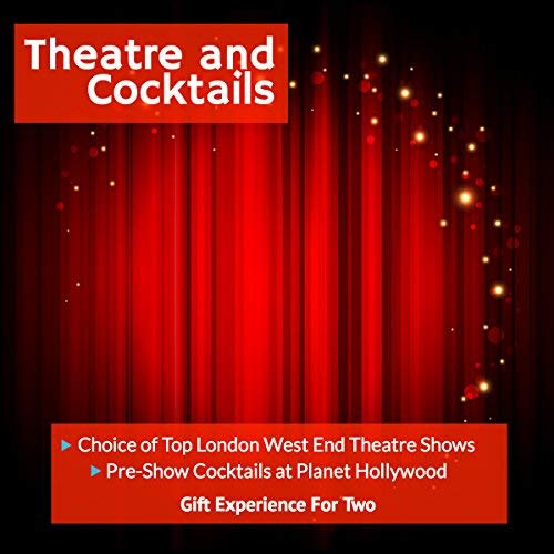 Theatre and Cocktails - Choice of London West End Theatre Shows with Cocktails - Gift Experience For 2 - Perfect for Christmas, Birthday, Anniversary, Wedding, Christmas and Special Occasions