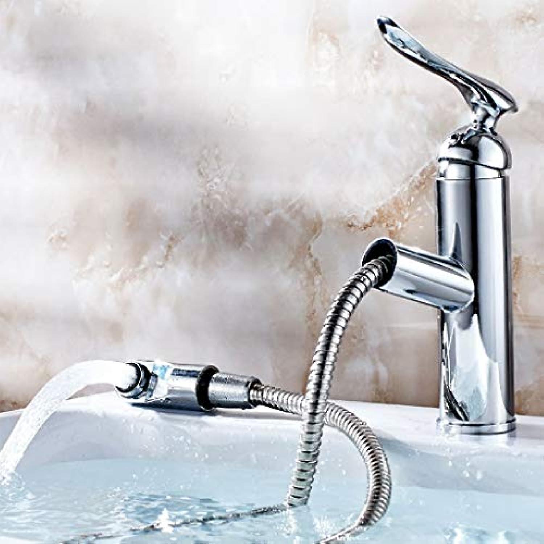 BMY High-end Waschtischmischer Kreative Mode Bad Küche Warm Und Kalt Ziehen Wasserhahn