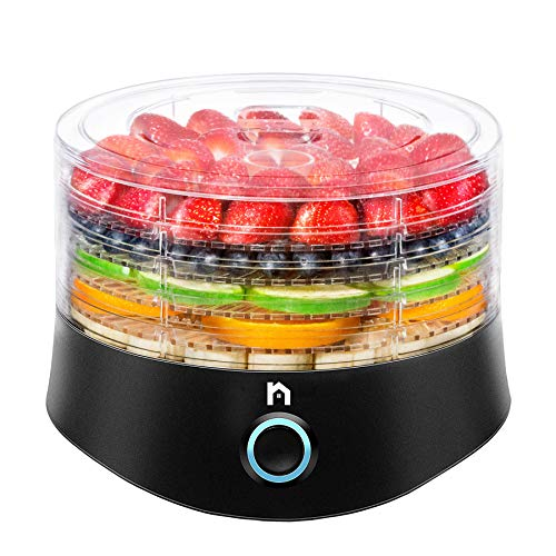 Buy Discount New House Kitchen Compact Multi-Tier Dehydrator with 5 BPA Free Round Stackable Transpa...