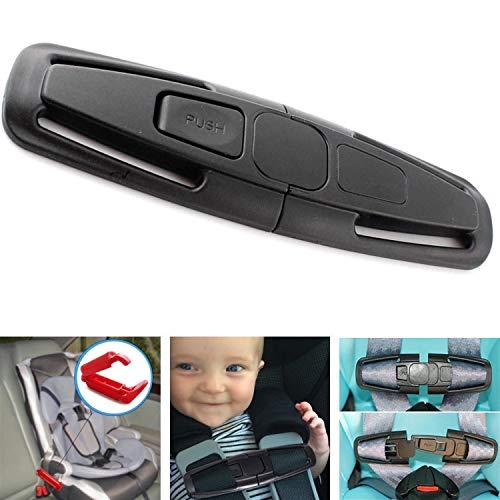 Fontee Baby Pack of 2 Car Safety Belt Regulator for Children Blue Safety Cover Harness Strap,Seat Belt Adjustable Knob Belt Safety Belt Fixing Device for Children