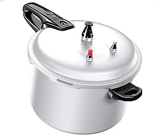 SJHSAIU Olla de Aluminio Cacerola Olla de cocción Lenta íntima de autobloqueo diseño de la válvula de arroz Restaurante Cocina Cocina cocinar, 2.2L, 3.2L, 5.5L, 7L, 8L (Color : Silver, Size : 8L)