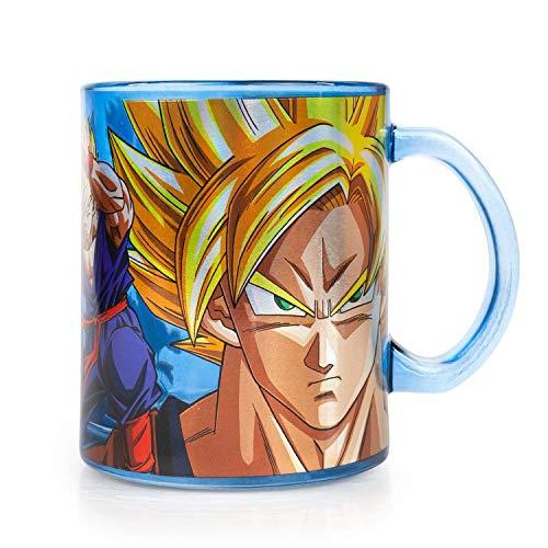 Dragon Ball Z Glass Mug with Dragonball Z Goku and Other Characters, 20 oz