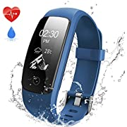 Aneken Fitness Tracker Watch Plus Sports Watch with Pedometer Heart Rate Sleep Monitor, Activity Tracker Connected Phone GPS, Step Calorie Distance Counter, Call SMS Reminder for Women Men