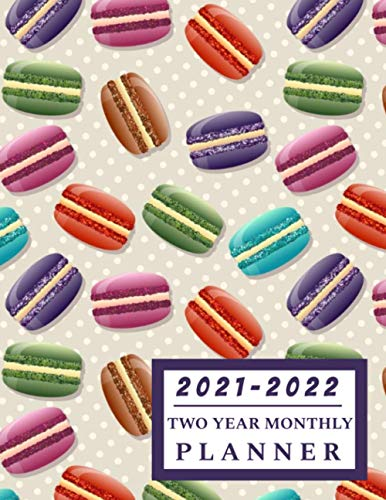 2021-2022 Two Year Monthly Planner: Macaroon - Deluxe Large Size