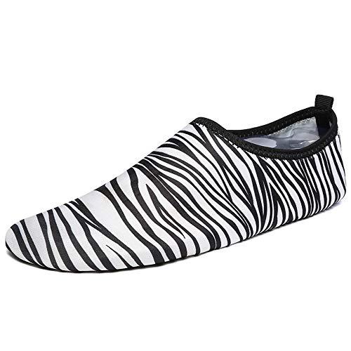 Calcetines de agua descalzo Antideslizante Hombres anti-corte de secado rápido respirable inferior suave Piscina corriente que vadea los zapatos de las mujeres Nado en la playa de secado rápido