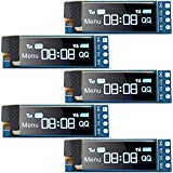 5 Pieces I2C Display Module 0.91 Inch I2C SSD1306 OLED Display Module Blue I2C OLED Screen Driver DC 3.3V~5V