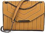 styleBREAKER Bolso de Bandolera de Mujer con Costuras Decorativas en Color de Contraste, Bolso de Hombro, Bolso de Mano, Bolso 02012308, Color:Curry
