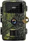 MISSJJ Fototrappola 16MP 1080P, Fototrappola Infrarossi Invisibili con...