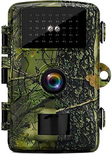 MISSJJ Fototrappola 12MP 1080P, Fototrappola Infrarossi Invisibili con 40pcs IR LEDS Fotocamera da caccia 0,8s Trigger e Impermeabile IP66 , Monitorare Animali Selvatici, Fattorie, Sicurezza Domestica