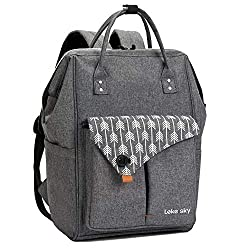 Lekesky Backpack Ladies for School Uni Travel Leisure Job with Laptop Compartment & Anti Theft Bag, Gray