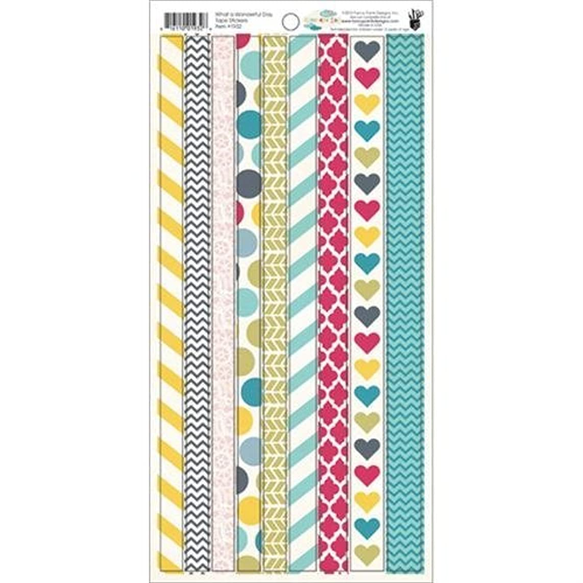 Fancy Pants What A Wonderful Day 6x12 Tape Stickers