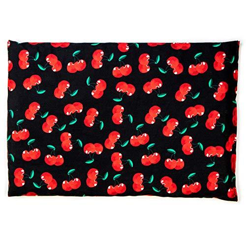 Cherry-black Kirschkernkissen 30 x 20 cm. Geeignet als Kirschkern-Wärmekissen 30x20cm für Mikrowelle und Backofen sowie als Kälte-Körnerkissen
