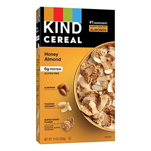 KIND Breakfast Cereal, Honey Almond, Gluten Free, 6g Protein, 10 Oz, 4Count