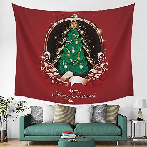 MMHJS Navidad Estilo Europeo Simple Pared Alce Tela Decorativa Impresa Fondo De Color Sólido Tapiz De Tela Dormitorio Sala De Estar Fiesta Tapiz De Vacaciones