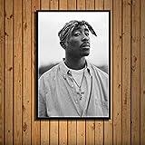 ysldtty Pintura En Lienzo Hight Quality American Rapper Tupac Amaru Shakur 2Pac HD Hight Quality Decoración para El Hogar para Niños Habitación C404 Sin Marco 40cmx60cm