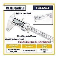 デジタルノギス デジタルキャリパー/マイクロメータ測定ツール、6インチ/ 150 mmステンレス鋼のバーニアキャリパー、LCDディスプレイ、インチ/メトリック変換 デジタルノギス測定ツール (Color : Metal Caliper)