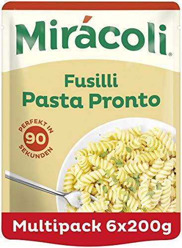MIRÁCOLI Pasta Pronto Fusilli, 6 Packungen (6 x 200g)