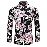 HDDFG Camisa de otoño para hombre, camisa de diseño único, camisa de manga larga estampada a rayas, camisa de oficina informal ajustada para hombre, M-7XL (Color : B, Size : 4XL code)