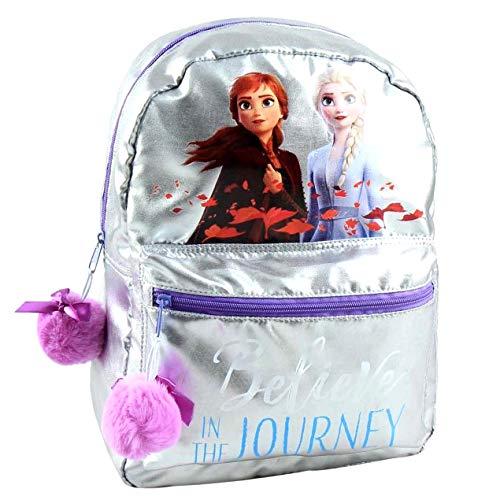 Disney Mochila escolar para niña Frozen 2 Elsa & Anna Pon Pon Rosa 38 x 27 x 11 cm Believe In The Journey Talla única
