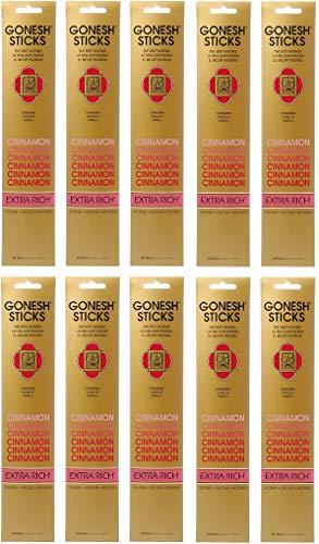 【10個セット】 GONESH(ガーネッシュ) お香 インセンス スティック エクストラリッチ シナモン 20本入