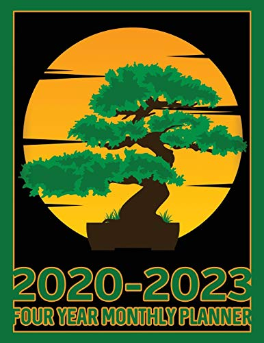 Bonsai Tree 2020-2023 Four Year Monthly Planner: Calendar, Notebook and More