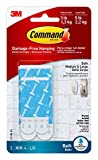 Command Bath Water-Resistant Adhesive Refill Strips, Re-Hang Medium and Large Bath Hooks or Caddies, 2-Medium, 4-Large