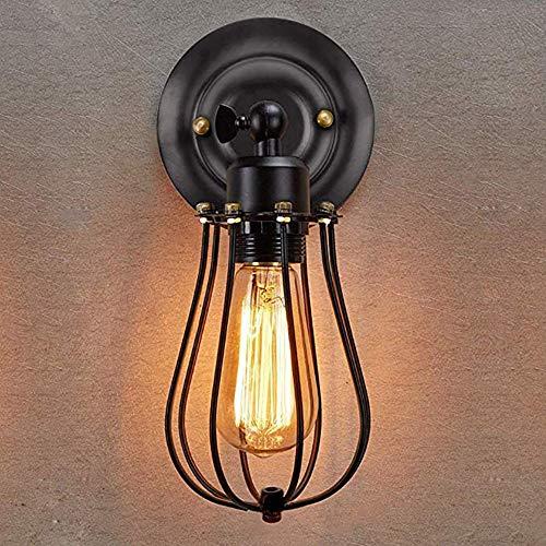 Wandlampe Vintage E27 Industrial Wandleuchte Retro Wandlampe Rustikal Deckenleuchte innen Metall Lampenschirm schwenkbar für Wohnzimmer Esstisch(Ohne Leuchtmittel)