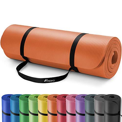 TRESKO® Esterilla de Fitness 185 x 60 cm y 190 x 100 cm para Gimnasia, Yoga, Pilates y...
