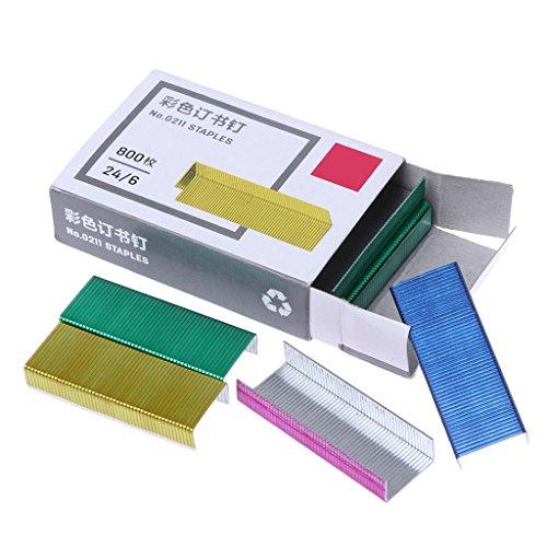 Manyo 800 Teile/Schachtel 12mm Kreative Bunte Metall Heftklammern Büro Schule Verbindliche Lieferungen