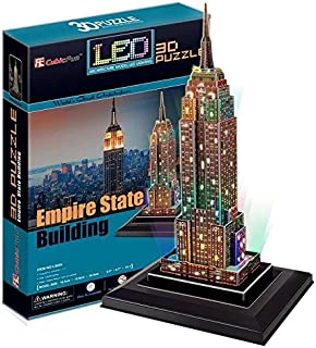CubicFun LED 3D Puzzle Combo - Statue of Liberty & Empire State Building