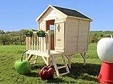 SOULET Spielhaus'Pauline' mit Podest Garten Holzhaus Kinderspielhaus ***NEU***