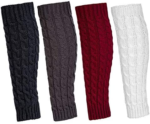 Leg Warmers for Women 4 Pairs Winter Warm Long Boot Knit Knee High Socks product image