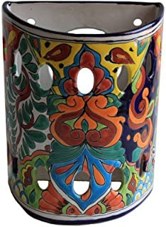Fine Crafts Imports Rainbow Talavera Ceramic Sconce
