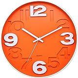 reloj de cocina pared naranja